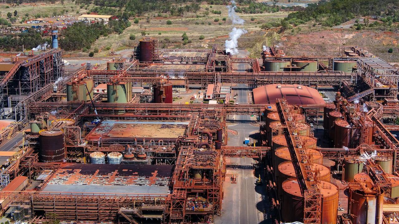 Rio Tinto's Yarwun alumina refinery.