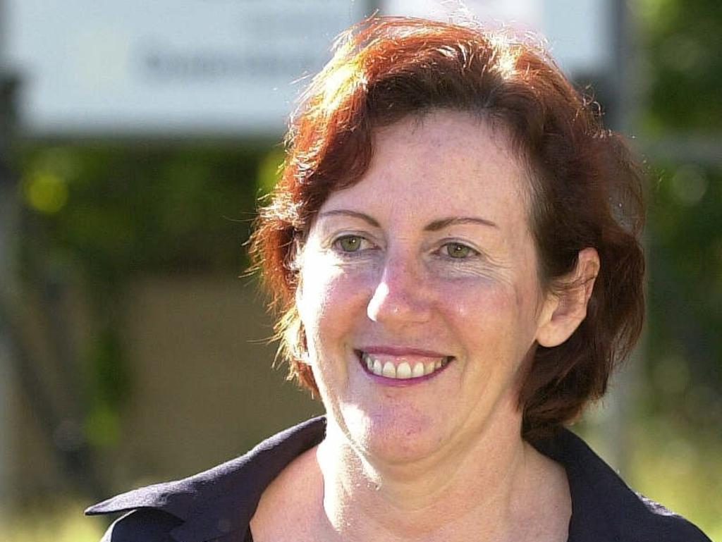 Former Queensland Labor candidate Karen Ehrmann leaves Townsville Correctional Centre in 2001 after serving nine months of a three-year sentence for electoral fraud.