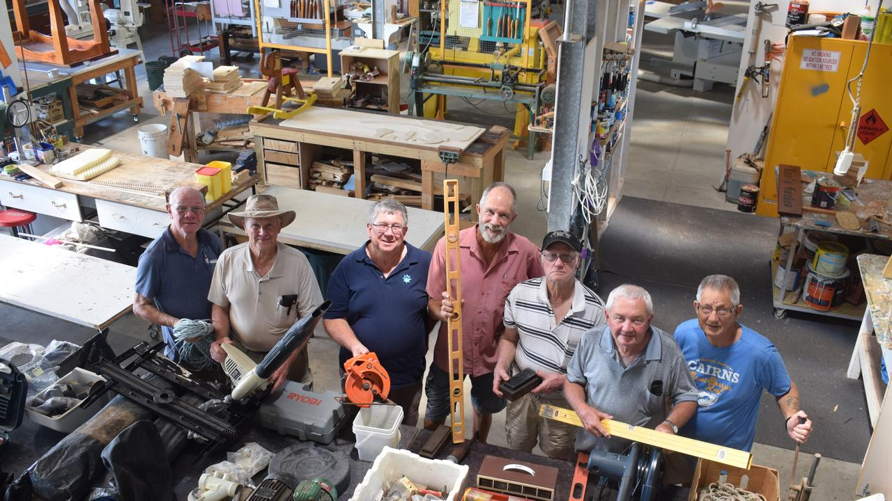 Gladstone Men's Shed is celebrating Men's Shed week this week from September 28 until October 3. (L to R): Alan Armour, Ian Horsburgh, president Ron Steen, Gerry Graham, Dave Moore, Dave Gibson and Graham Martin.