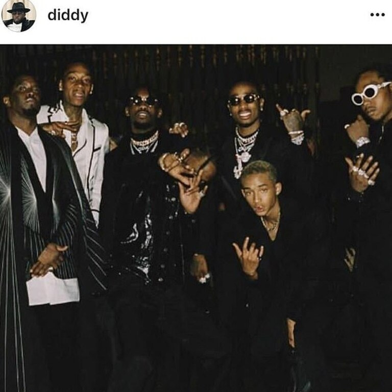 P Diddy shamelessly cropped the Jenner sister's out.