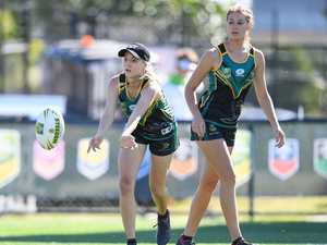 Keen youngsters descend on Coast for mass touch footy event