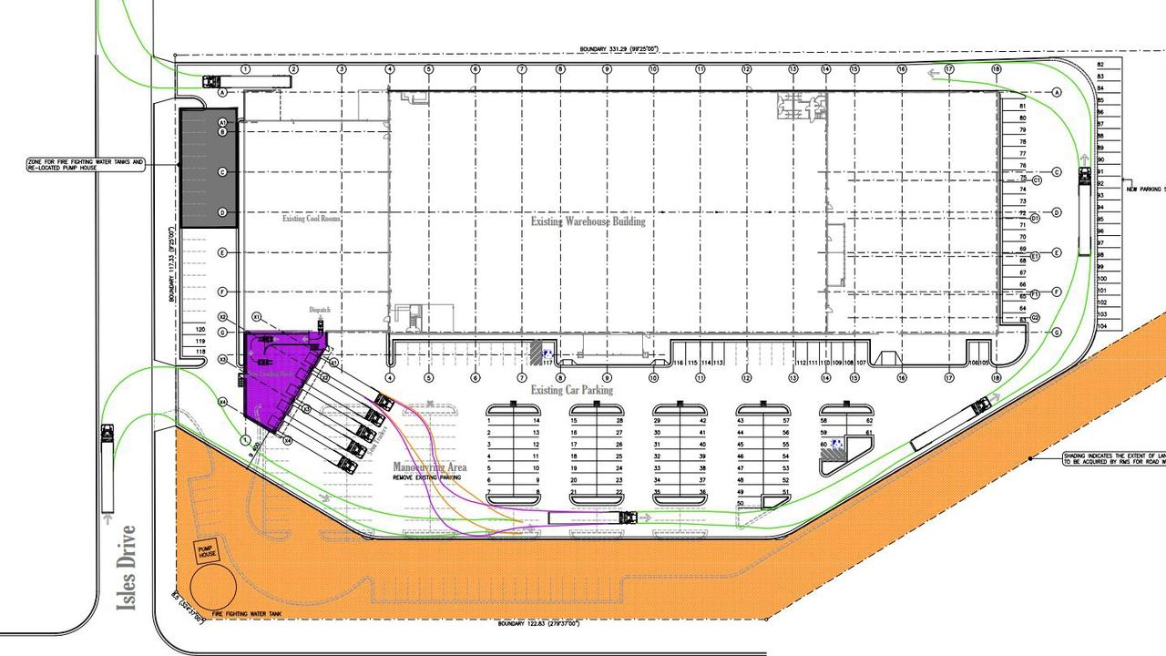 Driscolls is seeking to construct a loading dock extension to keep up with demand.