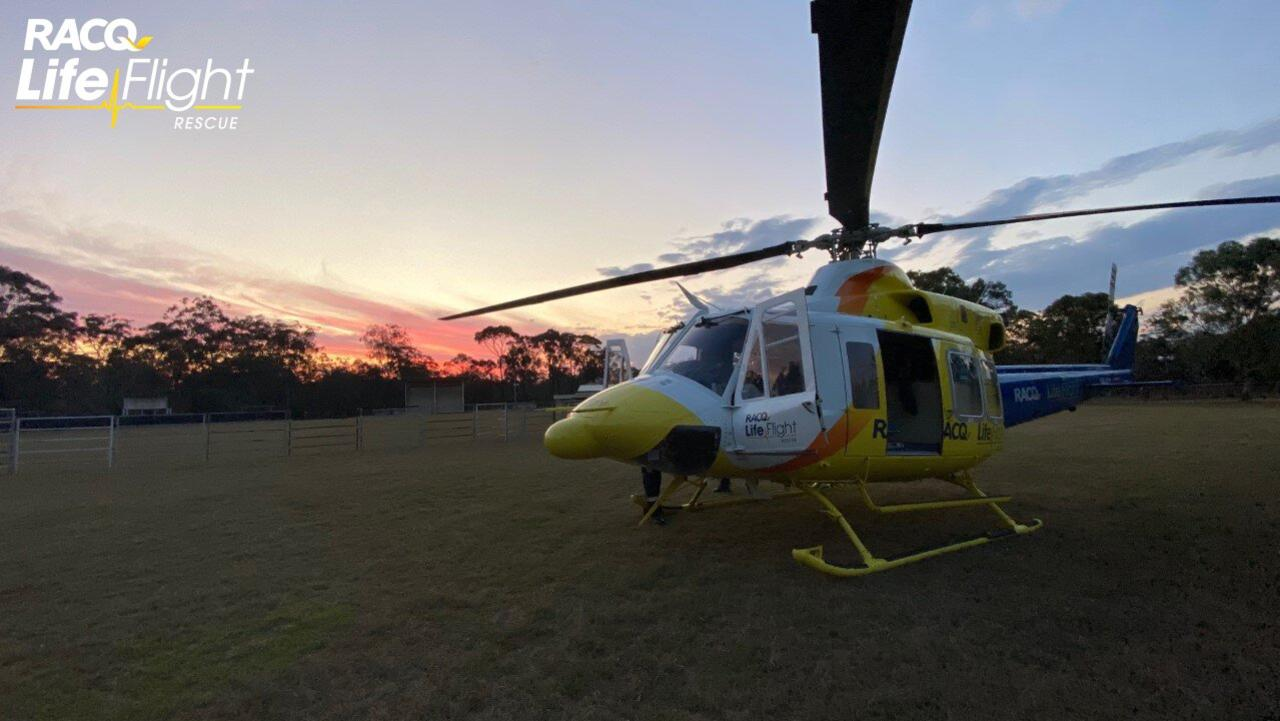 A Peak Crossing man was airlifted to hospital after being crushed by a boat trailer yesterday afternoon. File Photo.