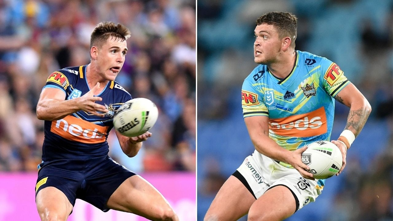 Gold Coast Titans AJ Brimson and Ash Taylor have caught the eye of Maroons coach Kevin Walters.