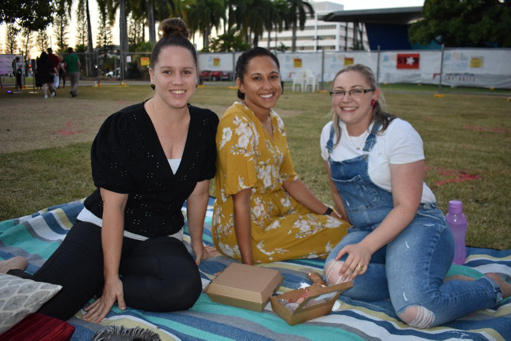 Image for sale: Nicole Porter, Natarlie Pratt and Samantha Goliath. Picture: Melanie Whiting