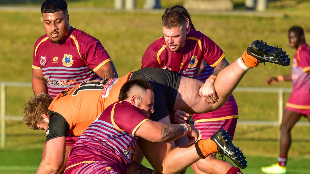 The West End Bulldogs are back in the Volunteers Cup finals hunt after a much-needed win. Picture: Bruce Clayton