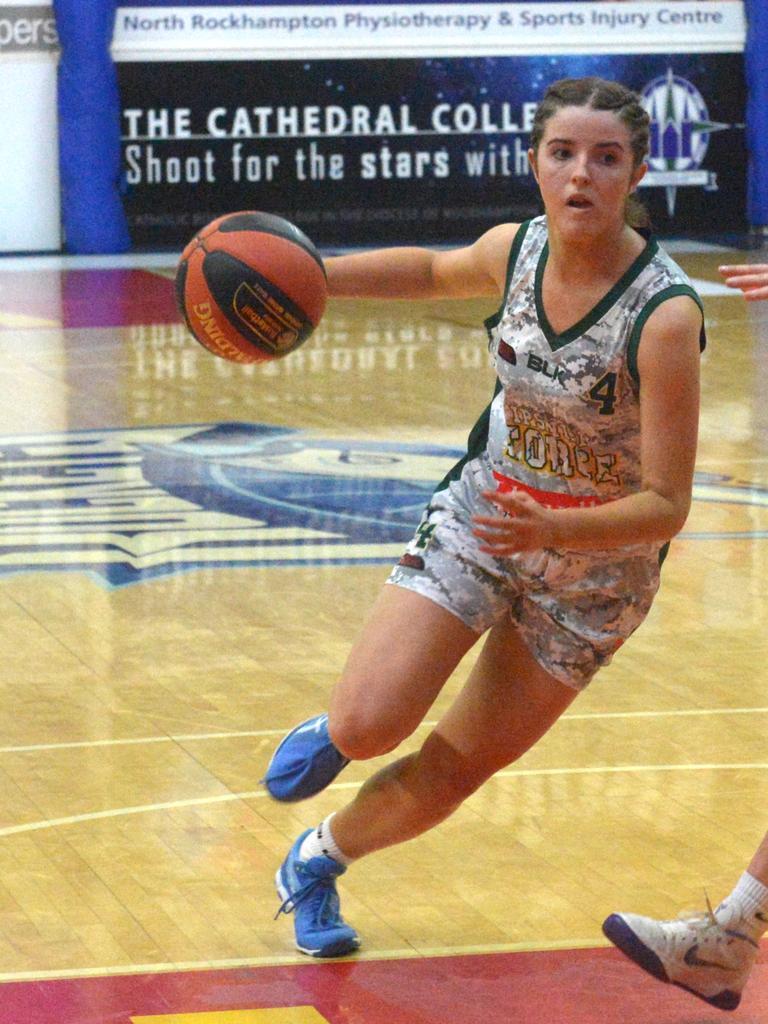 Ever-dependable Ipswich Force basketballer Rachel Mate.