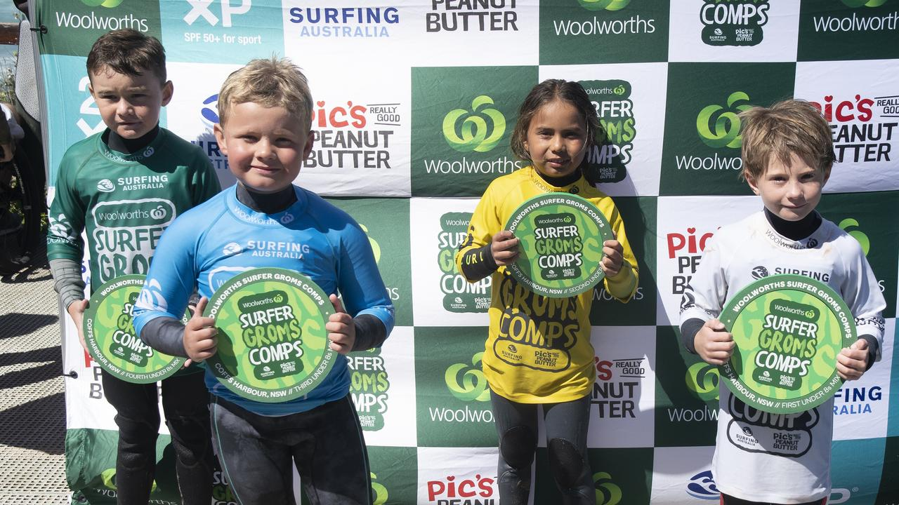 Junior surfers shine at Coffs Harbour today.