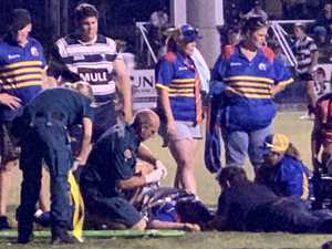 Player injury brings rugby grand final to lengthy halt