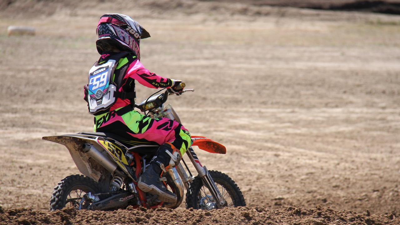 Sienna Cyprian travelled from Moranbah for coaching by Ben Schodel and to practice at Benaraby raceway in preparation for the Queensland Women's and Veterans Motocross Championship. Picture: Rodney Stevens