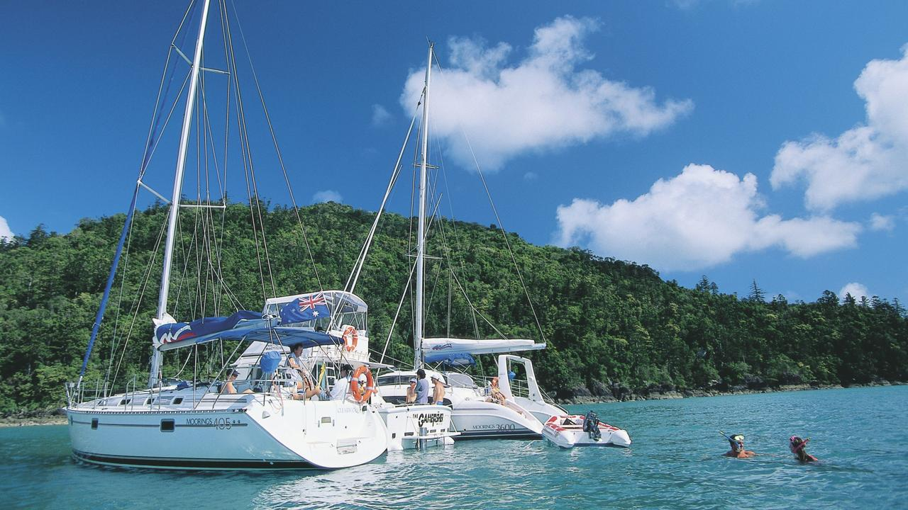 Sailing in the Whitsunday Islands. Picture: Tourism and Events Queensland.