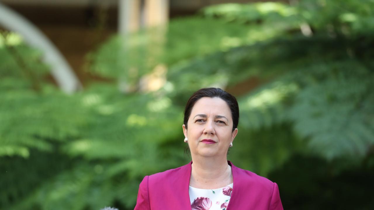 Annastacia Palaszczuk at Parliament House. Pic Annette Dew