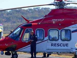 Man dies, three children flown to hospital