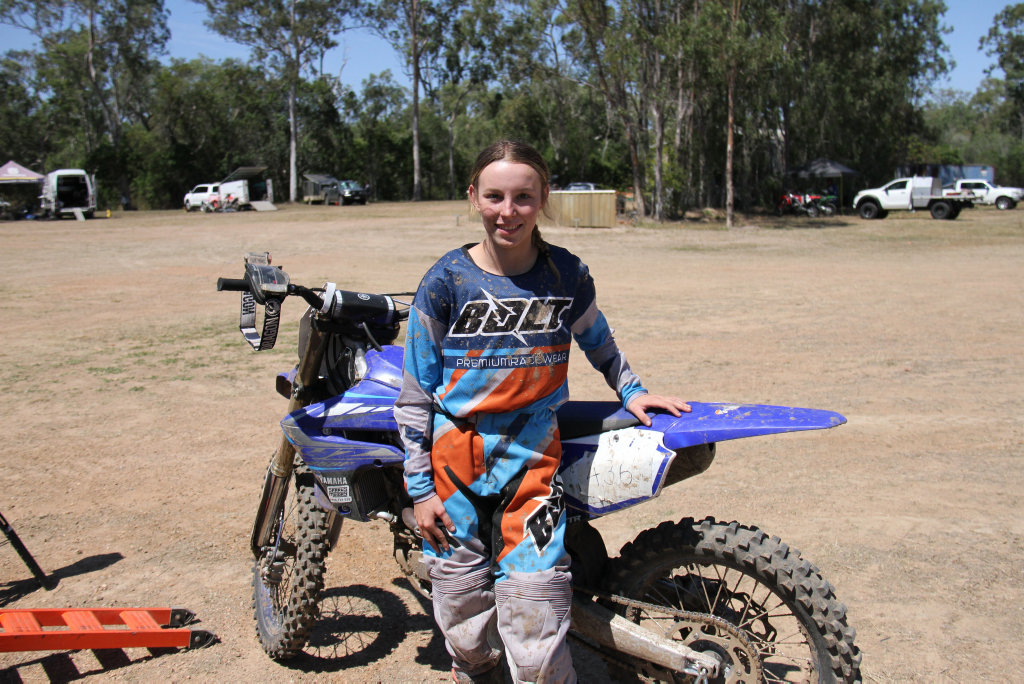 Image for sale: Former national champion Taylah McCutcheon will battle it out with Tahlia Drew in the Queensland Women's Motocross Championship at Benaraby Raceway. Picture: Rodney Stevens