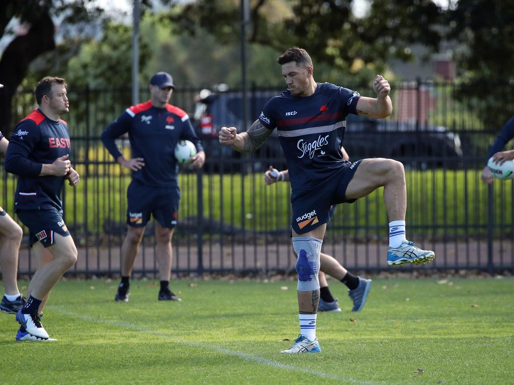 Sonny Bill Williams is pictured at Sydney Roosters training session. Picture: David Swift