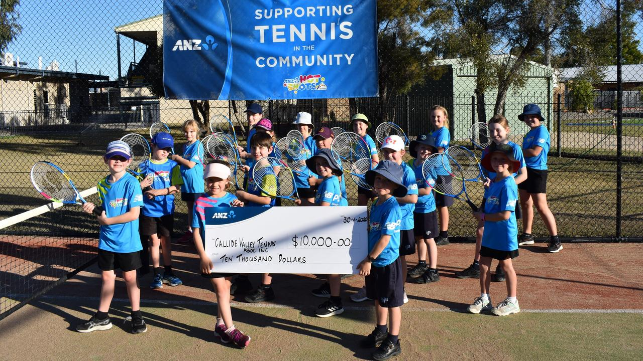 Callide Valley Tennis Association has been awarded a $10,000 ANZ Community Grant. Photo: Contributed