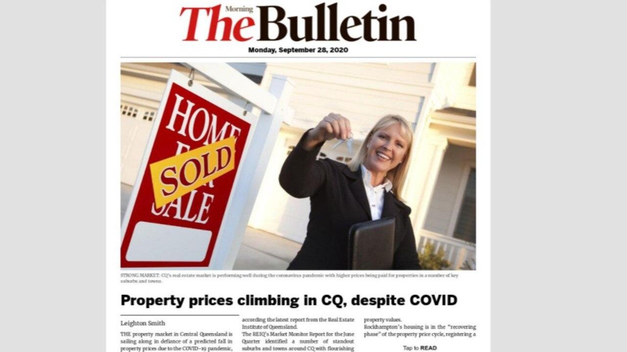 Morning Bulletin digital edition, Monday September 28