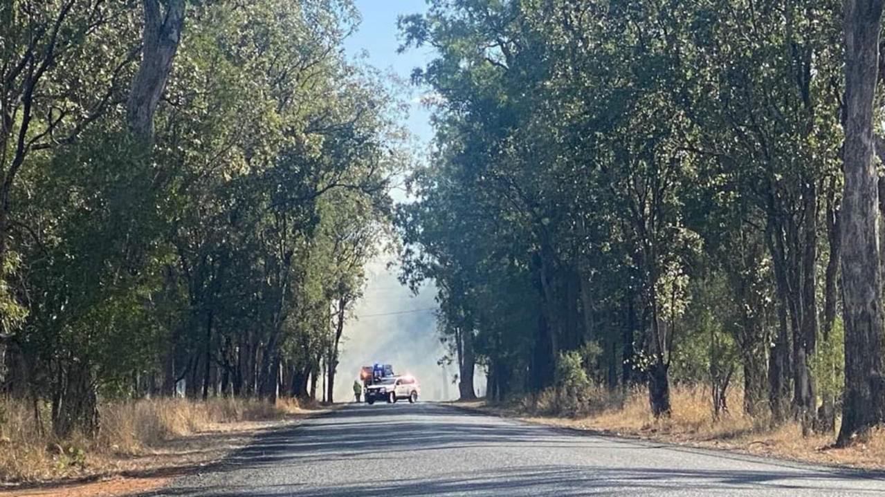 Emergency services are on scene at a bushfire near Chinchilla. Picture: Peta McEachern