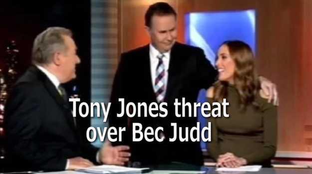 Tony Jones threat over Bec Judd