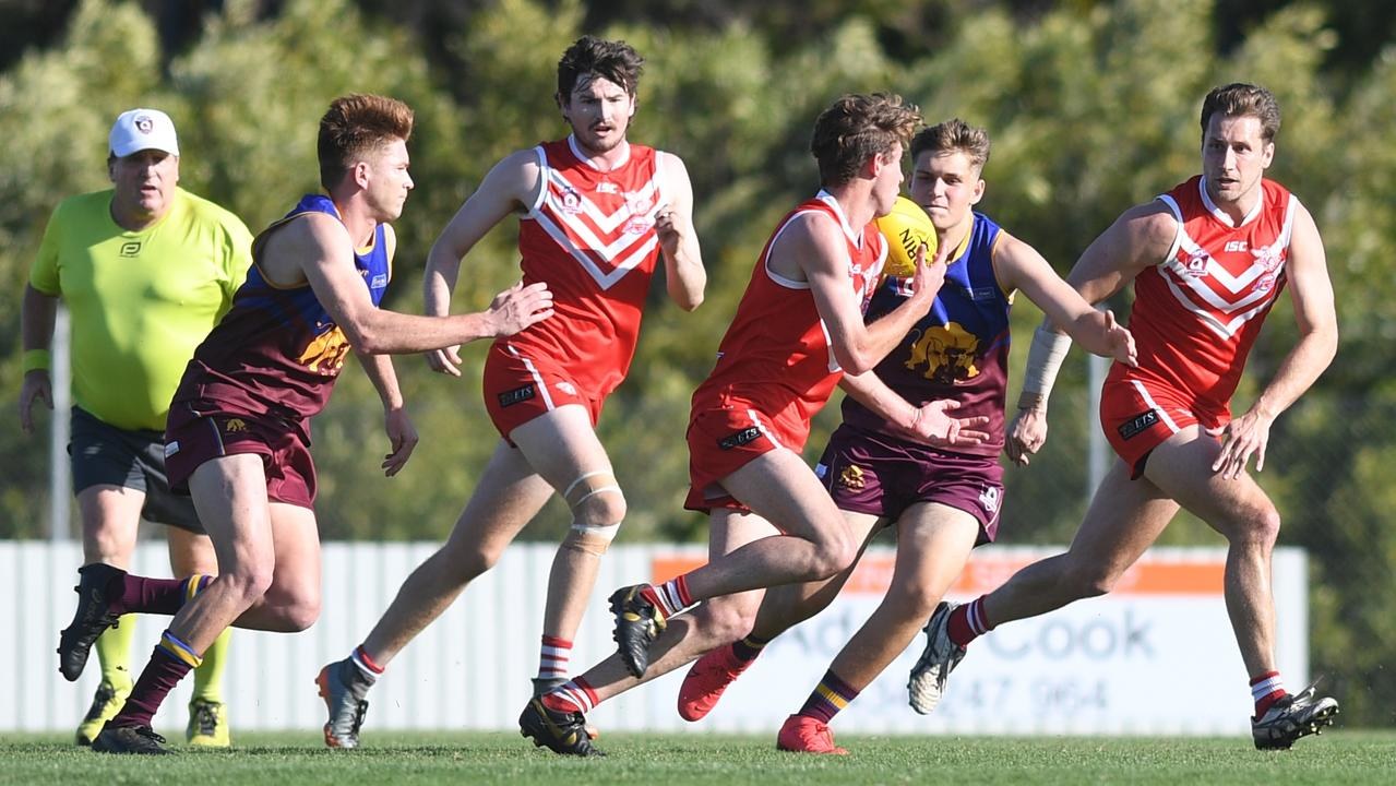 The Yeppoon Swans equalled the national record for the most wins in AFL history with their 132-point drubbing of Glenmore in Saturday's semi-final. Photo: Jann Houley