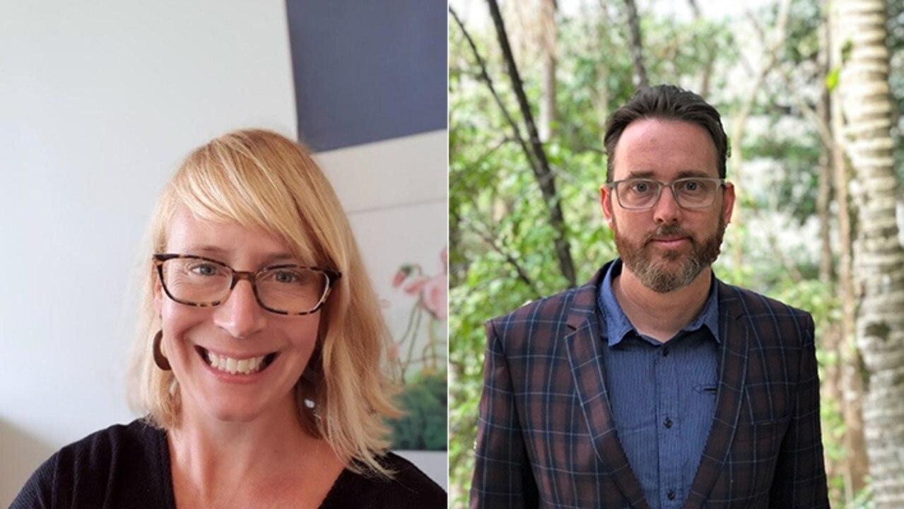 Professor Erica Wilson and Associate Professor Thomas Roche.