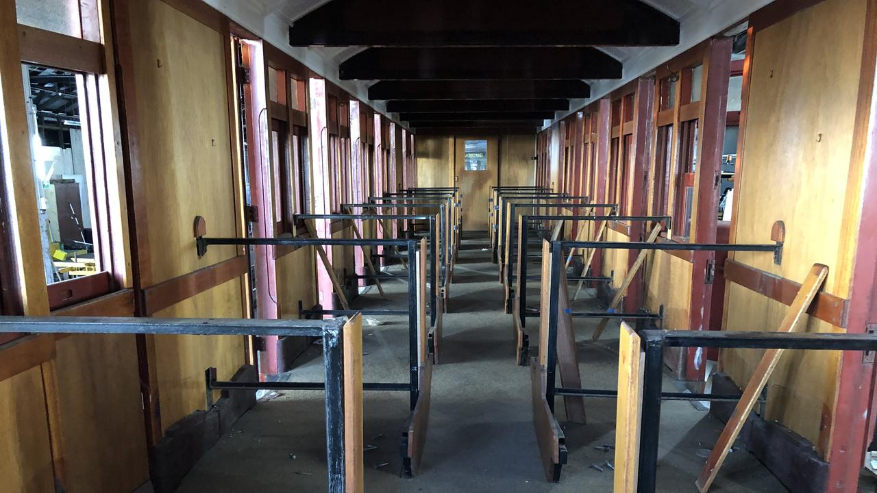 The carriage, pre-renovation.