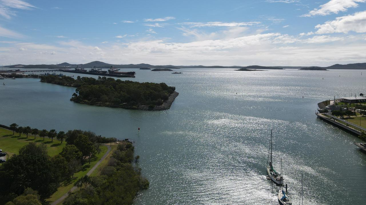 Affordability, lifestyle and liveability are just three reasons Gladstone's property market is so hot right now. Picture: Rodney Stevens DJI Mavic Air 2 drone.