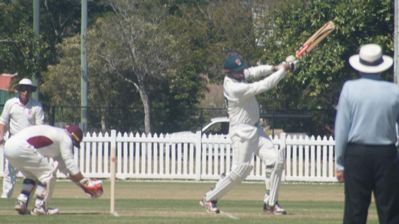 Lockyer/Ipswich cricketer Bob Kratzmann goes on the attack.