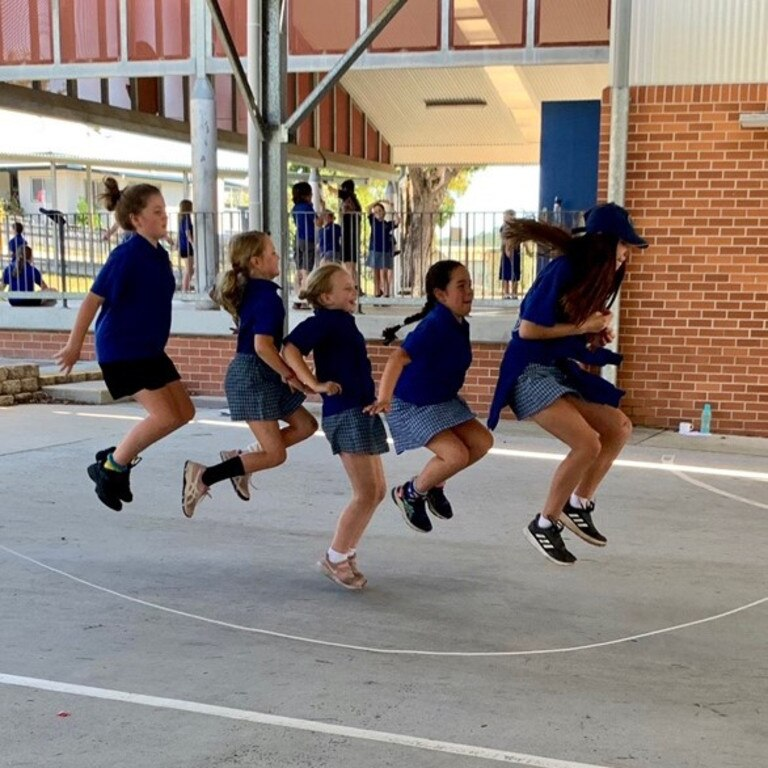 Maclean Public School students took part in the Jump Rope for Heart Foundation's Crazy Sock Jump Off last week.