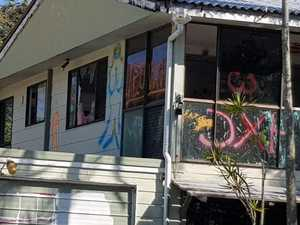 Parents angry after house covered in adult graffiti