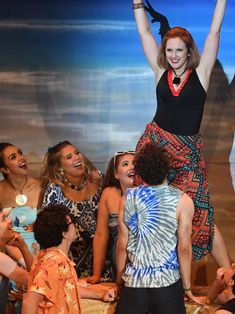 There's nothing holding Tanya (Aleah Dillon) back in Mamma Mia