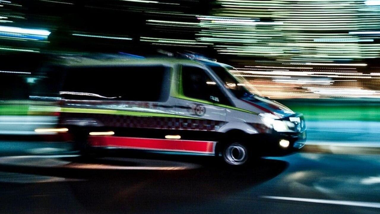 A man was taken to Sunshine Coast University Hospital after a crash.