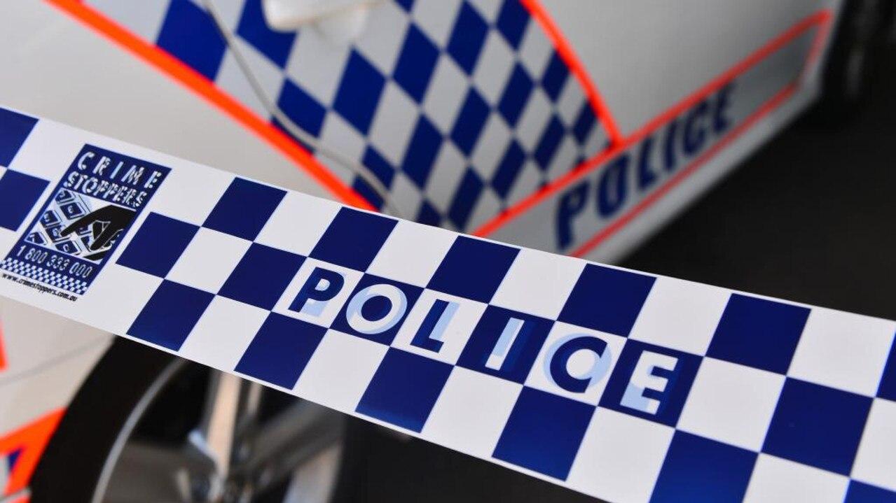 Queensland Police tape.