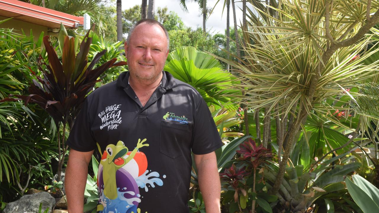 Big4 Adventure Whitsunday Resort owner operator Greg McKinnon said JobKeeper had played a critical role in keeping his staff employed. Picture: Laura Thomas