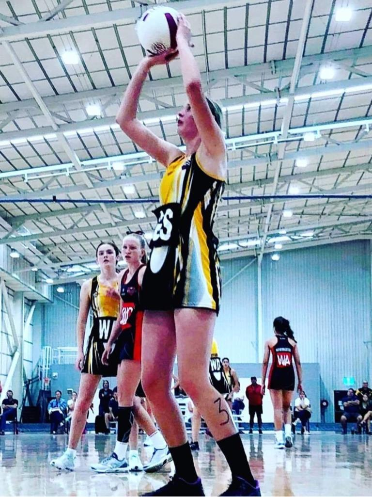 Emerald Netball Association player Mollie Evans has been selected for the Under 17 Queensland squad after competing at the Nissan State Titles.