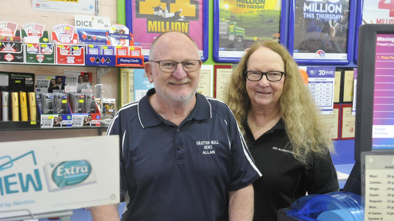 Grafton Mall News owners Allan and Joan Worland were thrilled a customer took home a cool $101,000.