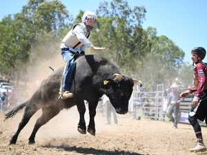 MT MORGAN JUNIOR RODEO U15 Mini Bull Ride: Justin