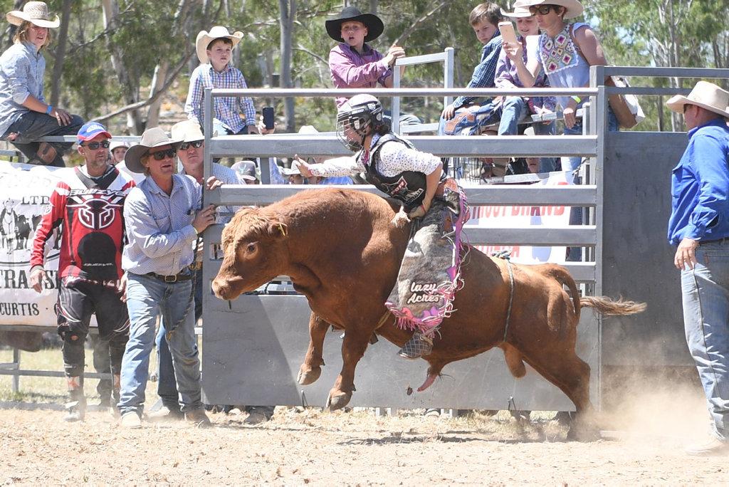 Image for sale: MT MORGAN JUNIOR RODEO U15 Mini Bull Ride: Caydence Fouracre