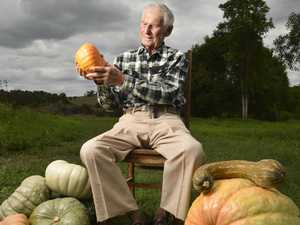 Syd Haag on his pumpkin farm.