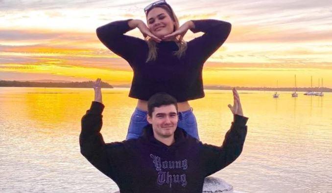 Isabella Myler and boyfriend Izaac McAndrew. Photo: Supplied