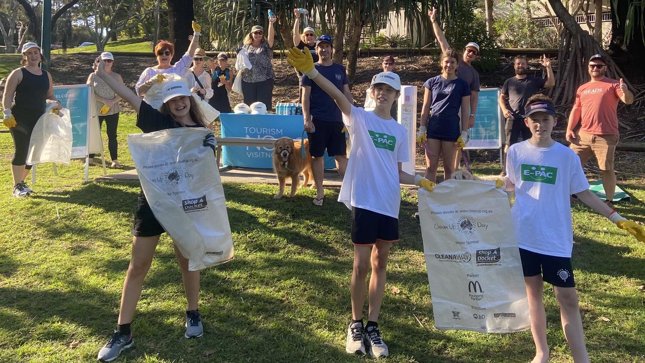 Sunshine Beach is on the receiving end of a community clean up.