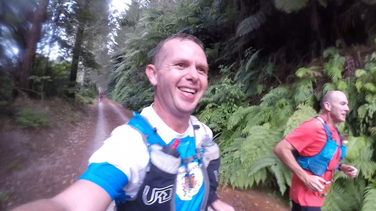 Deon McLean with best mate Shaun Cavanough competing in the Tarawera Ultramarathon in New Zealand last weekend.