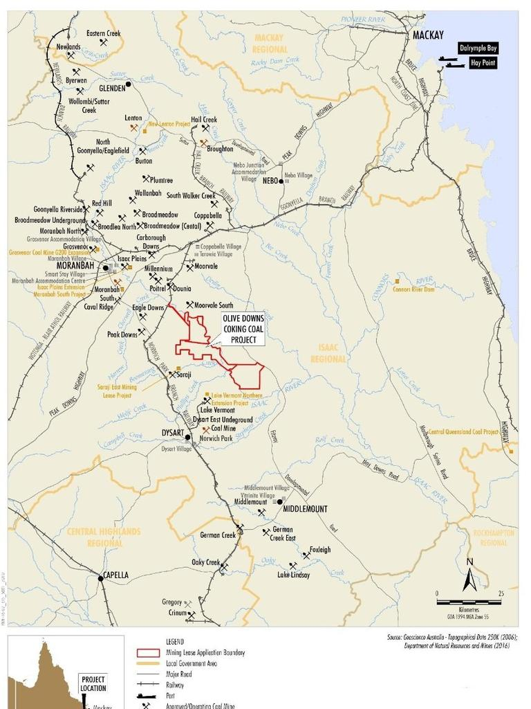 MINING PROJECT: A new $1 billion coking coal mine at Olive Downs located south-east of Moranbah in the Bowen Basin has been approved by the Queensland Government.