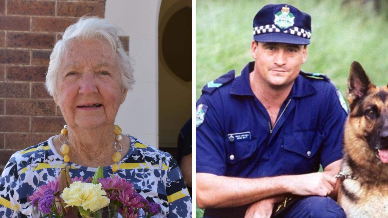 TODAY WE REMEMBER: Rosalie Watt at St John's Anglican Church in Dalby for Police Remembrance Day in honour of her son senior constable Norman James Watt. Picture: Contributed
