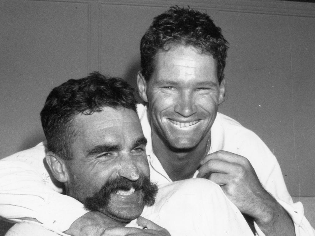 Merv Hughes and Dean Jones.
