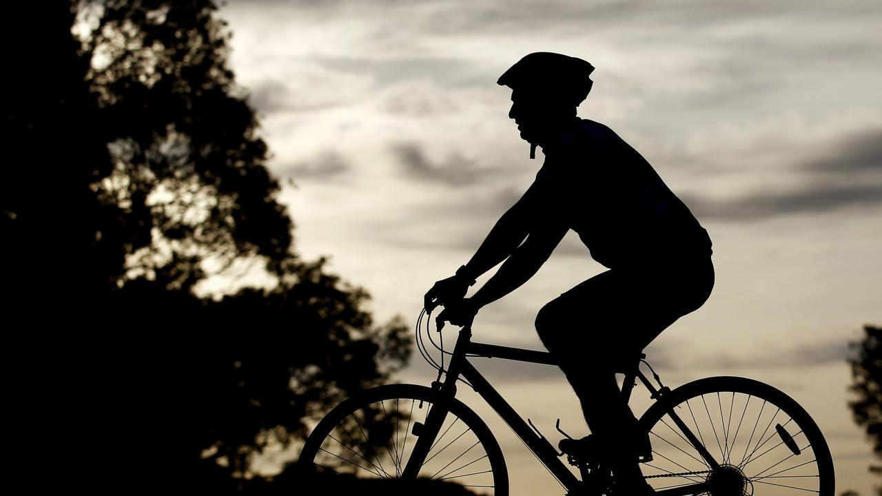 A man in his 50s was injured when he fell from his bicycle at Marcus Beach on Tuesday morning.