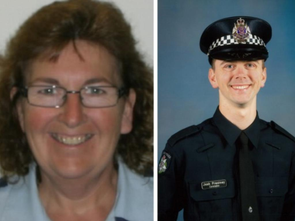 Leading Sen-Constable Lynette Taylor and Constable Joshua Prestney. Picture: AAP Image/Supplied by Victoria Police