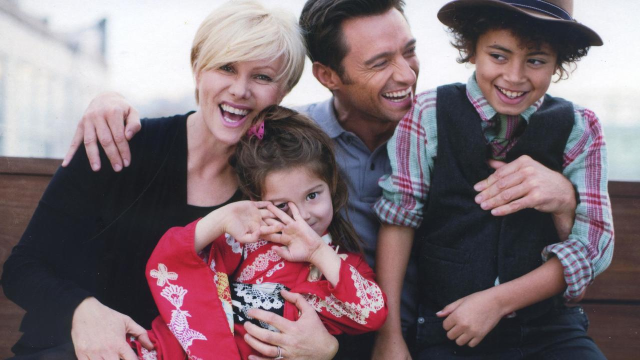 Deborra Lee Furness and Hugh Jackman with their Kids Ava and Oscar. Picture: Supplied