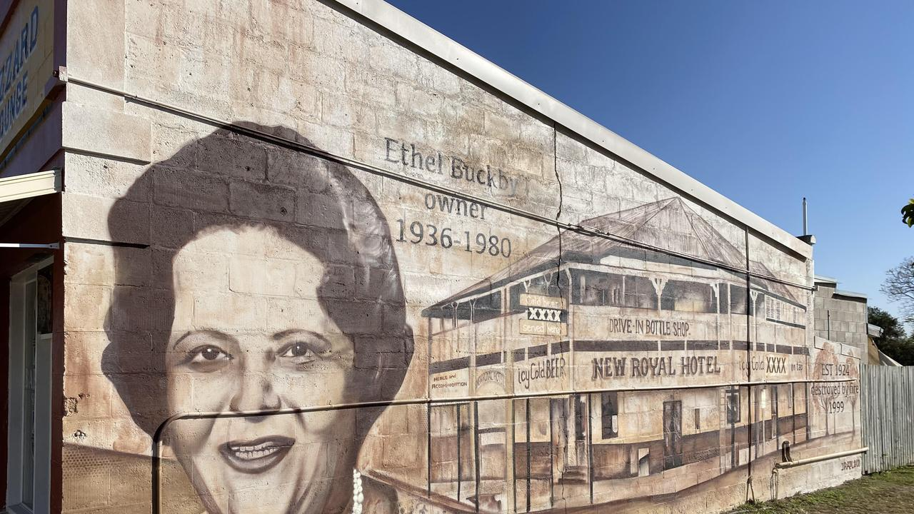 DRAPL Art has turned a blank Monto wall into a stunning memorial for the Royal Hotel. Photo/DRAPL Art