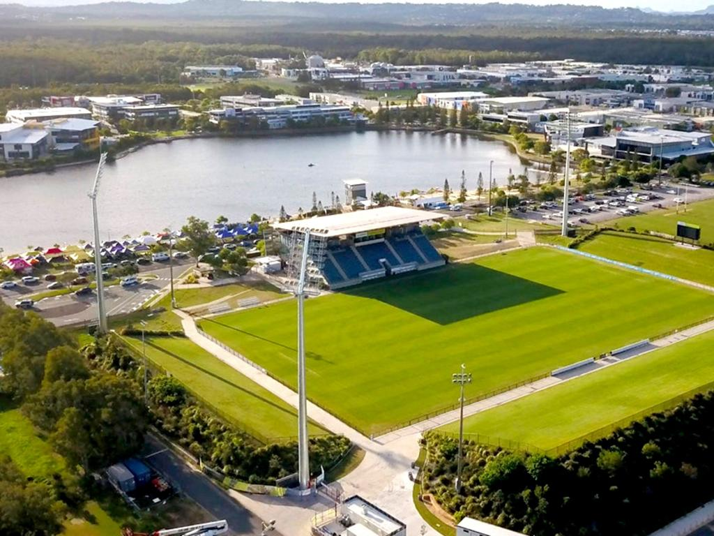 Andrew Wallace will fight for $20 million in Federal Government funding at next Tuesday's budget to upgrade Sunshine Coast Stadium. Picture austadiums.com
